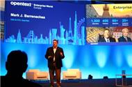 Mark Barrenechea bei seiner Keynote zur Enterprise World in Wien (Bild: A.Stadler)