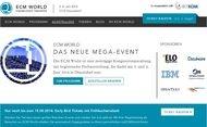 Homepage zur »ECM World 2014« (Bild: ECM World)